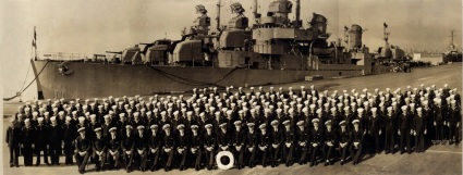 Sproston 1945 Lester fourth from right in officers