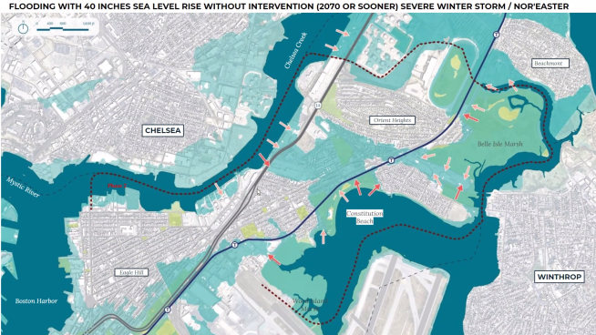 East Boston 2070 saltwater flooding